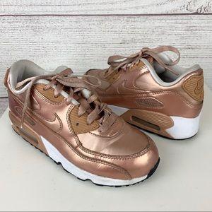 Girls Rose Gold Nike Air Max Sneakers